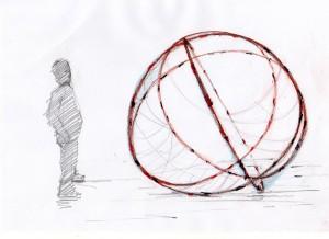 Gatto_e-sfera  diametro 195 cm  2014